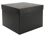 8x8x6 Black Swirl 2 Piece Gift Box