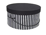 Black White Narrow Stripe Hat Boxes