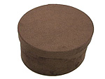 Chocolate Brown Oval Fabric Boxes