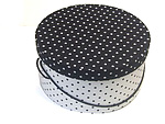 Black White Polka Dot Hat Boxes