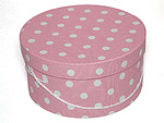 Pink with White Polka Dots Hat Boxes