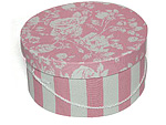 Pink and White Stripe Hat Boxes