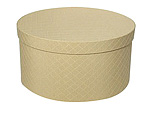 Yellow Checks Round Fabric Boxes