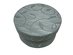 Green Vine Round Fabric Boxes