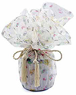Toy Print Organza Wrapper