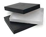 General Purpose 7 1/8 x 5 1/8 x 7/8 Shallow Black Boxes