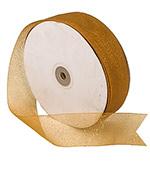 Sheer Old Gold Sparkle Ribbon
