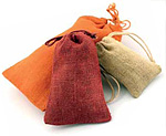 Natural Jute Gift Pouches w/Matching Drawstring