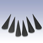 NW-1009 - BLACK SET OF 6 RING CONES