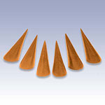 NW-1010 - BROWN SET OF 6 RING CONES