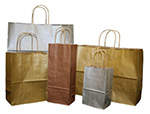 Nifty50 Metallic Tinted Paper Bags w/ Twisted Paper Handle