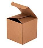 4x4x4 Reverse Tuck Kraft Box