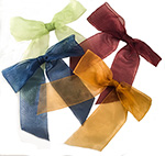 Pretied Organza Bow w/Wire Twist  in Assorted Colors