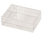 4 5/8 x 3 1/2 x 1 1/4 - Rigid Hinged Plastic Boxes