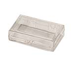2 x 1 1/8 x 1/2 - Rigid Hinged Plastic Boxes