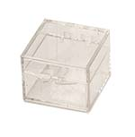 1 x 1 x3/4 - Rigid Hinged Plastic Boxes