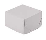 5x5x3 White 2 Piece Lock Corner Box