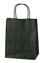 8 x 4 3/4 x 10 Black Tint on Kraft Bag