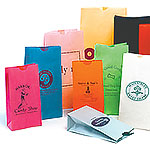 Custom Printed Stand Up Colored Paper Bags