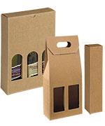 Italian Textured Kraft Olive Oil & Vinegar Boxes
