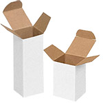 Reverse Tuck White 1 Piece Gift Boxes