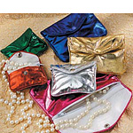 Metallic Snap Jewelry Pouches w/ Zipper