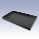 UT1-B - 1in. BLACK PLASTIC TRAY