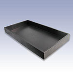UT1.5-B - 1.5in. BLACK PLASTIC TRAY