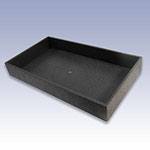 UT2-B - 2in. BLACK PLASTIC TRAY
