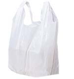 Low-D White T-Shirt Handle Plastic Bags