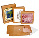 Window Kraft Stationery Boxes