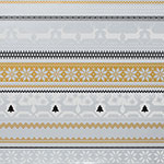 Sweater Print Silver & Gold