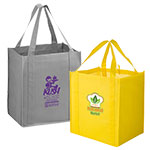 Custom Printed Heavyweight NonWoven Grocery Bags