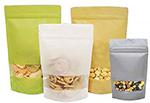 Rice Paper Laminate Window Zipper Bags