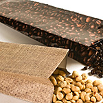 Heat Sealable Burlap/Bean Photo Laminated Foil Bags