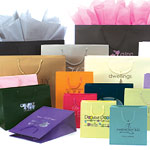 Premier Laminated Euro Paper Gift and Shopping Totes w/ Rope Handles