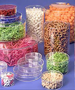 Rigid Clear Round Plastic Boxes
