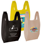 Custom Printed NonWoven T-Shirt Shoppers