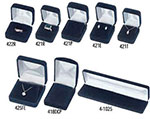 Accu-Vel Velour Collection Flocked Jewelry Boxes w/Satin Inserts