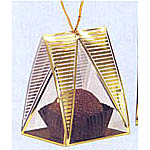 Gold Acetate Pyramid Boxes