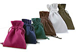 Royal Velveteen Drawstring Pouches