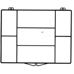 7 Compartments - 4 3/8 x 3 1/2 - Rigid Hinged Plastic Boxes