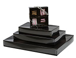 Black Onyx Candy Boxes w/Clear Lids Collection