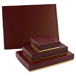 Textured Burgundy & Gold 2-Tone Candy Box