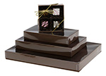 Cocoa Gloss Candy Boxes w/Clear Lids Collection