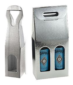 Argento Silver Linen Wine Boxes
