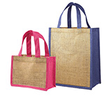 Jute Tote w/ Colored Gussets