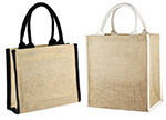 Jute Tote w/ Cotton Trim