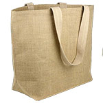 Jute Beach Bag With Cotton Lining