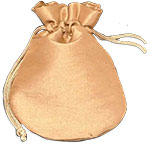 Satin Rounded Pouch With Satin Drawstring